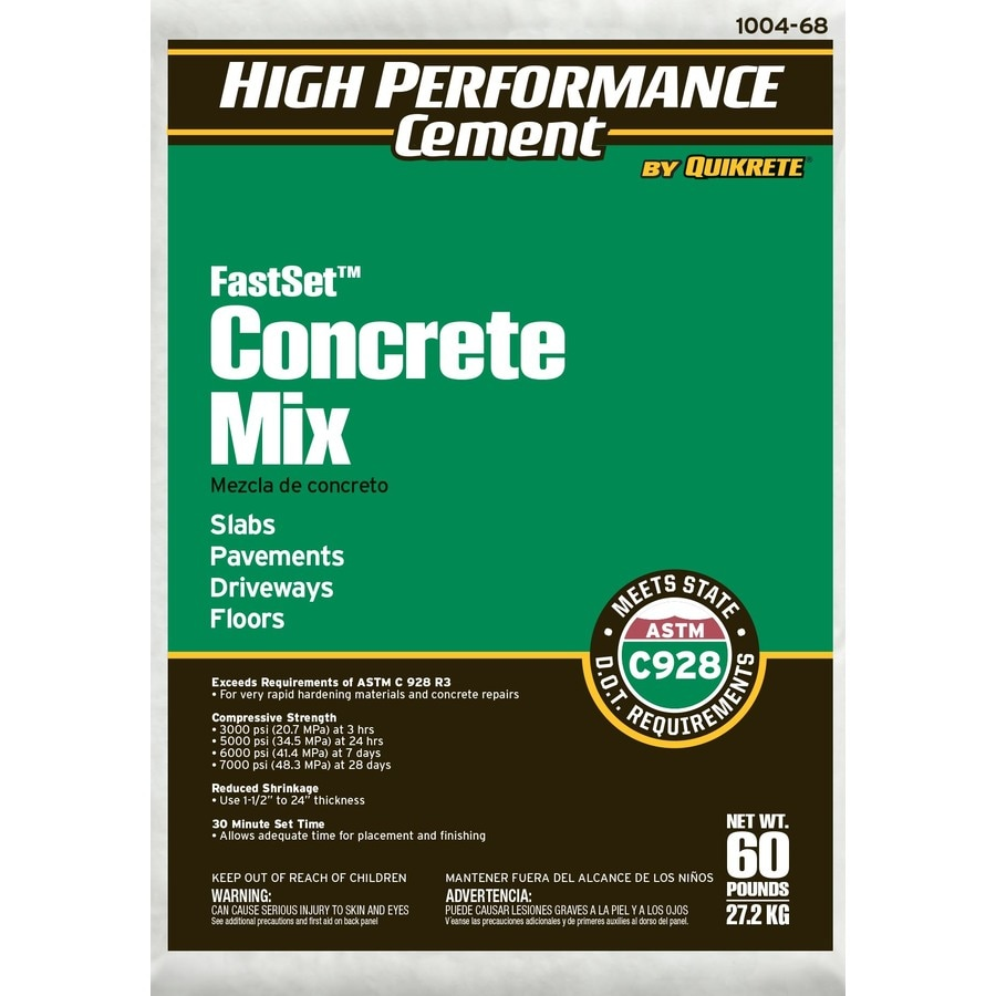 High Performance Cement by Quikrete High Performance Cement 60-lb Gray Fast Setting Concrete Mix