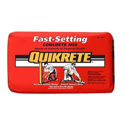 Quikrete 50 Lb Fast Setting Concrete Mix At Lowesforpros Com