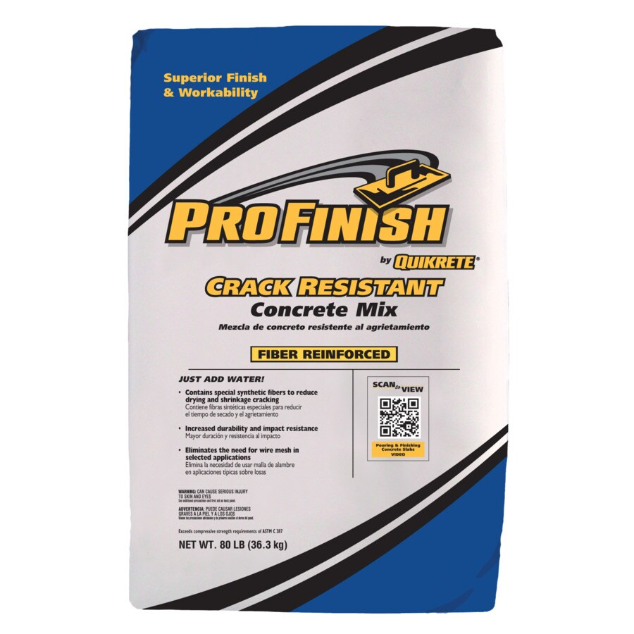Quikrete Concrete Mix : Shop quikrete profinish crack resistant lb gray high