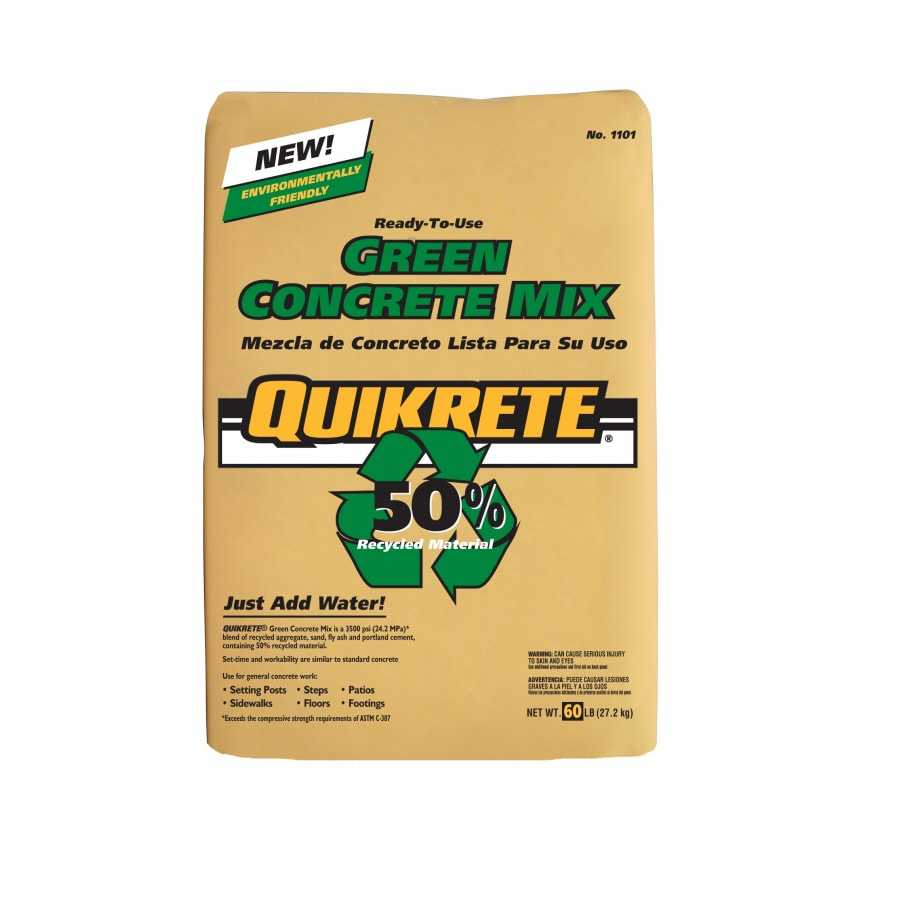 QUIKRETE Green 60-lb Gray High Strength Concrete Mix
