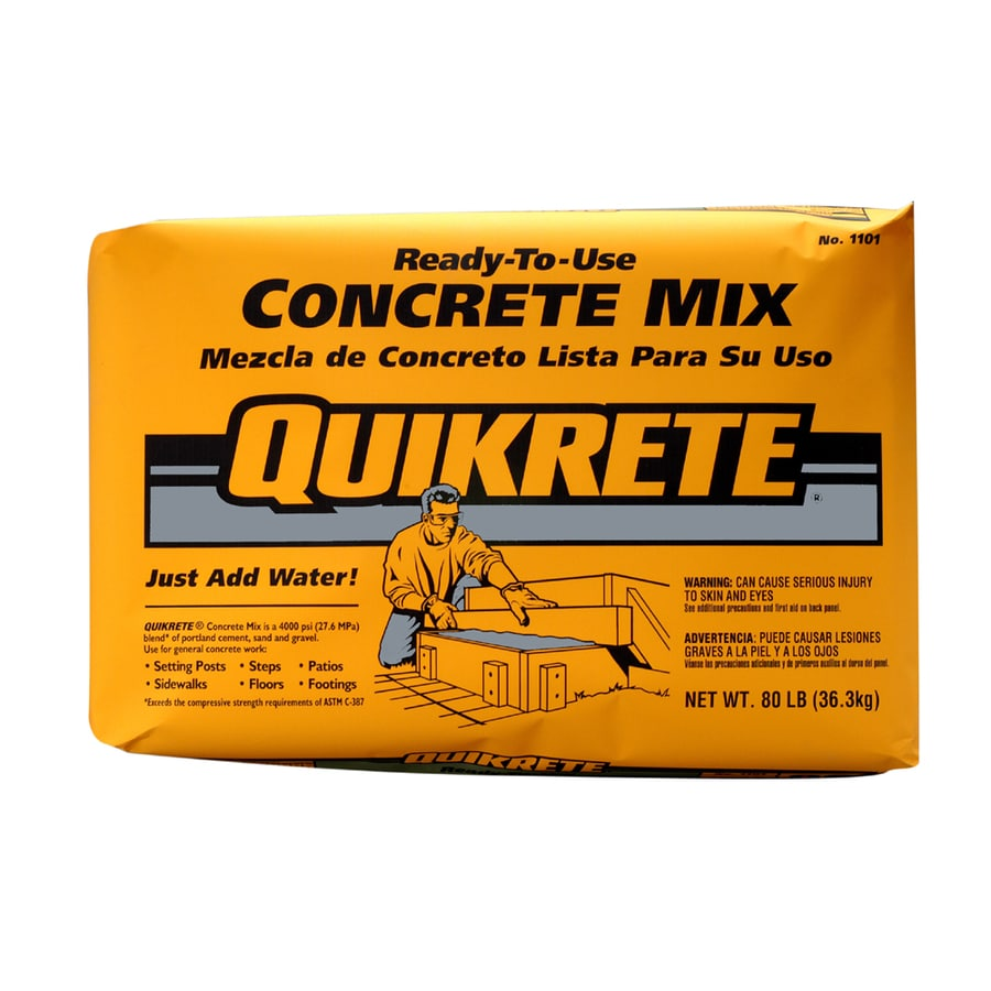 QUIKRETE 80-lb High Strength Concrete Mix at Lowes com