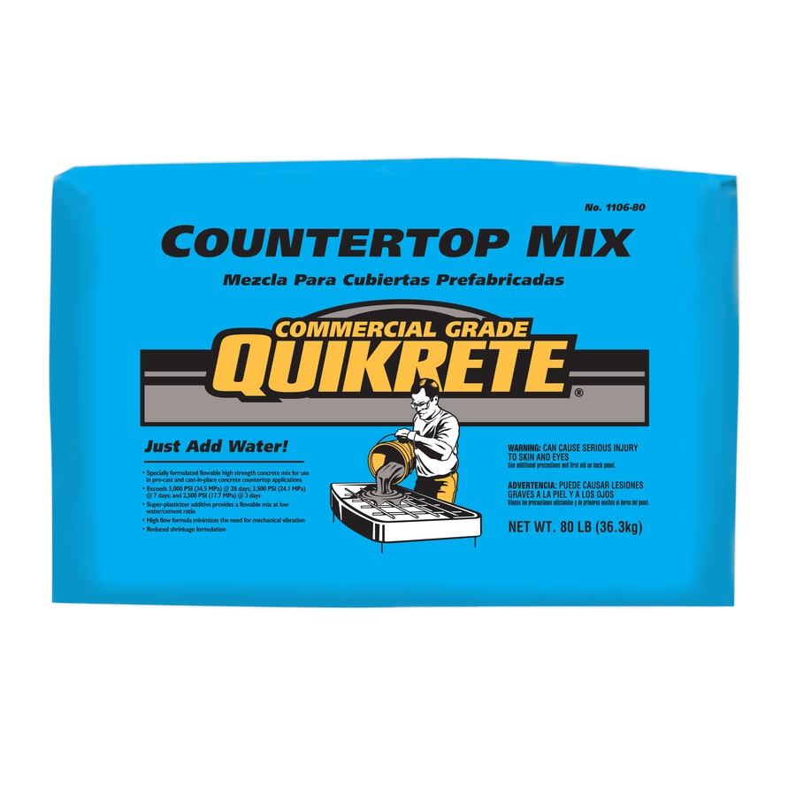 Shop QUIKRETE Countertop 80-lb Gray High Strength Concrete Mix at ...