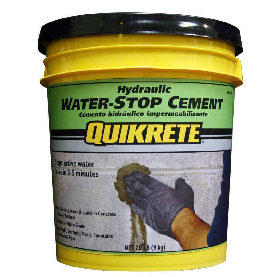 QUIKRETE Hydraulic Water-Stop 20-lb Gray Cement Mix