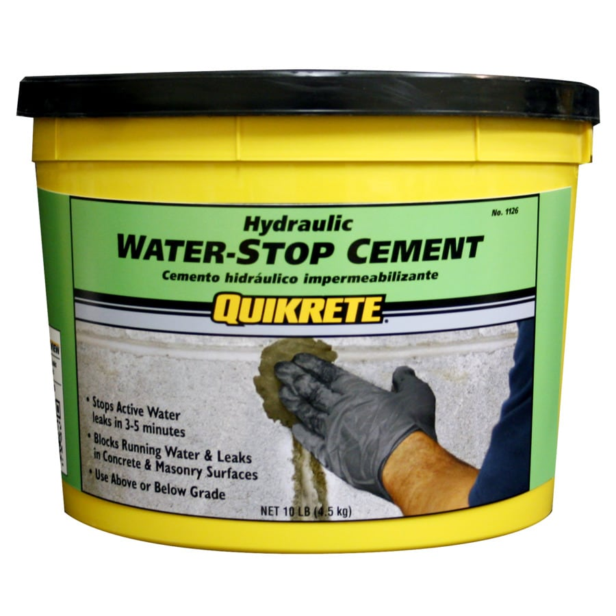QUIKRETE Hydraulic Water-Stop 10-lb Gray Cement Mix