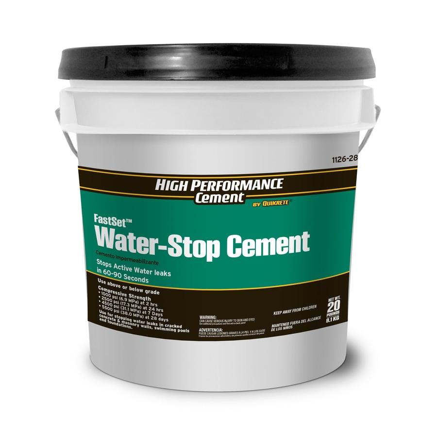 High Performance Cement by Quikrete FastSet Waterstop 20-lb Cement Mix