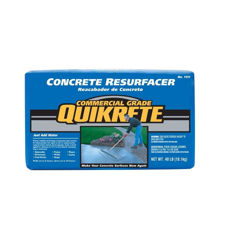 Quikrete 40 Lbs Concrete Resurfacer At Lowes Com
