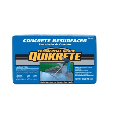 QUIKRETE 40-lbs Concrete Resurfacer at Lowes com