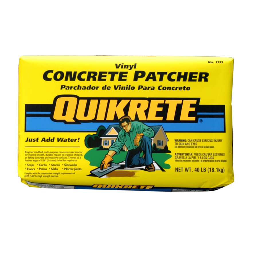 Quikrete 40 Lbs Vinyl Concrete Patcher At Lowesforpros Com