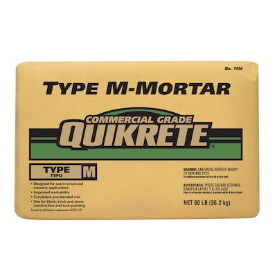 QUIKRETE Commercial Grade 80-lb Gray Type-M Mortar Mix at