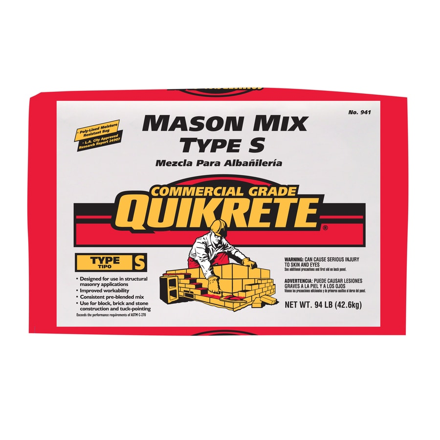 QUIKRETE 94-lb Gray Type-S Mortar Mix