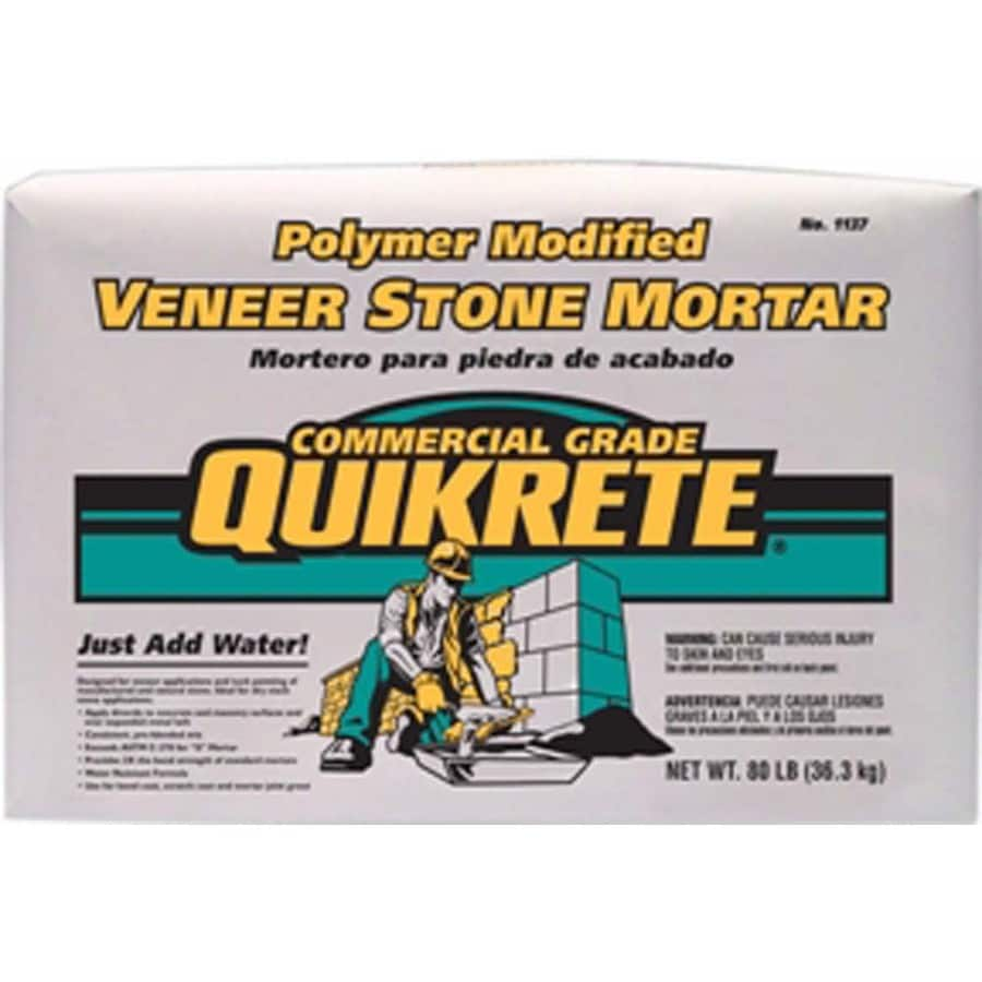 QUIKRETE Veneer Stone Polymer Modified 80-lb Gray Type- S Mortar Mix