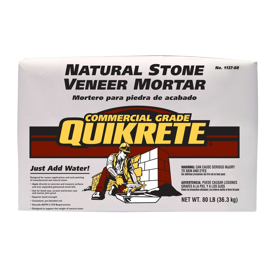 QUIKRETE Veneer Stone 80-lb Gray Type- S Mortar Mix