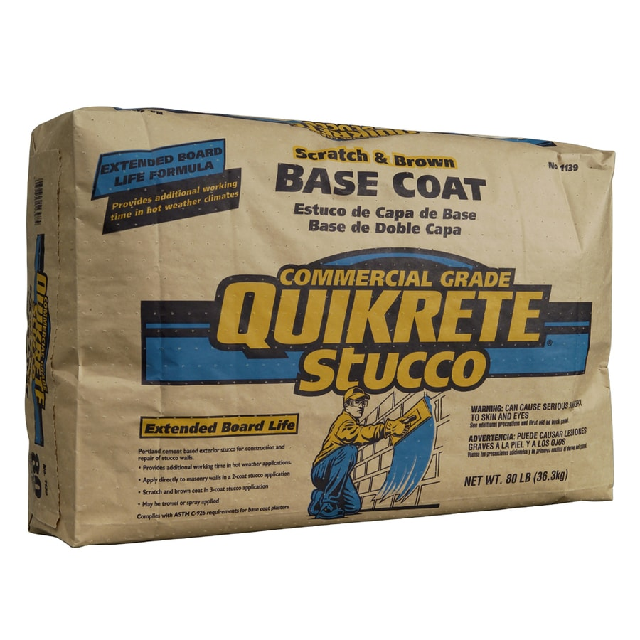 QUIKRETE Extended Board Life 80-lb Premixed Base Coat Stucco Mix