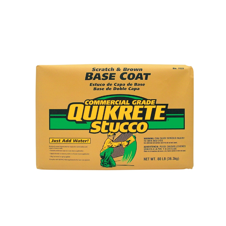 Quikrete 80 Lb Premixed Base Coat Stucco Mix