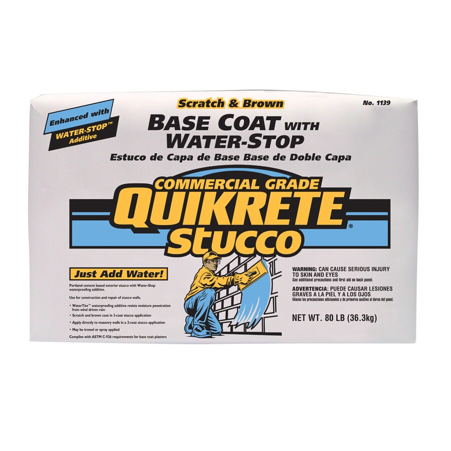 QUIKRETE Water-Stop 80-lb Premixed Base Coat Stucco Mix