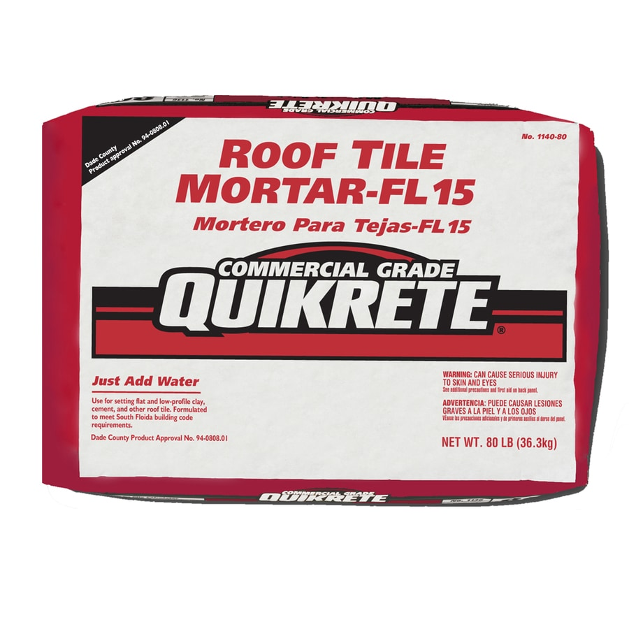 QUIKRETE Roof Tile FL 15 80-lb Gray Type-M Mortar Mix