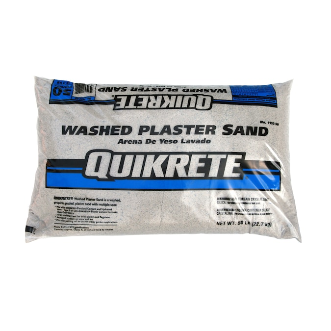 Quikrete 50 Lb Washed Plaster Sand In