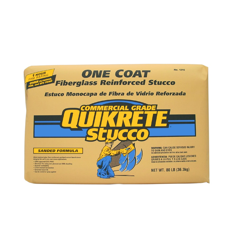 Quikrete One Coat 80 Lb Premixed Finish Stucco Mix