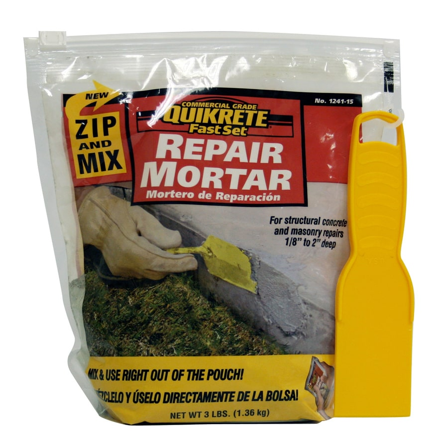 QUIKRETE Zip N Mix Fastset Repair 3-lb Gray Type-M Mortar Mix