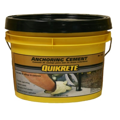 QUIKRETE 10-lbs Anchoring Cement at Lowes com