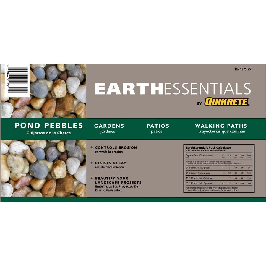 Earthessentials By Quikrete 0 5 Cu Ft Pond Pebbles