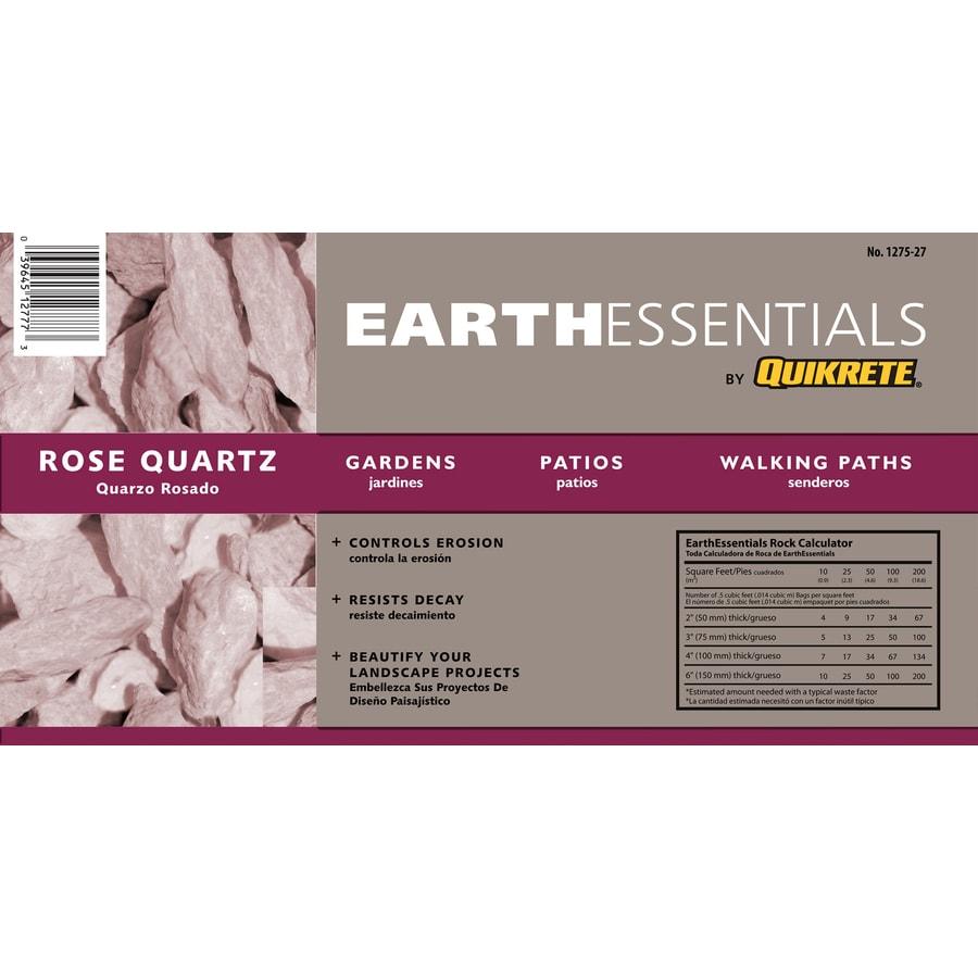 EARTHESSENTIALS BY QUIKRETE 0.5-cu ft Rose Quartz Rock