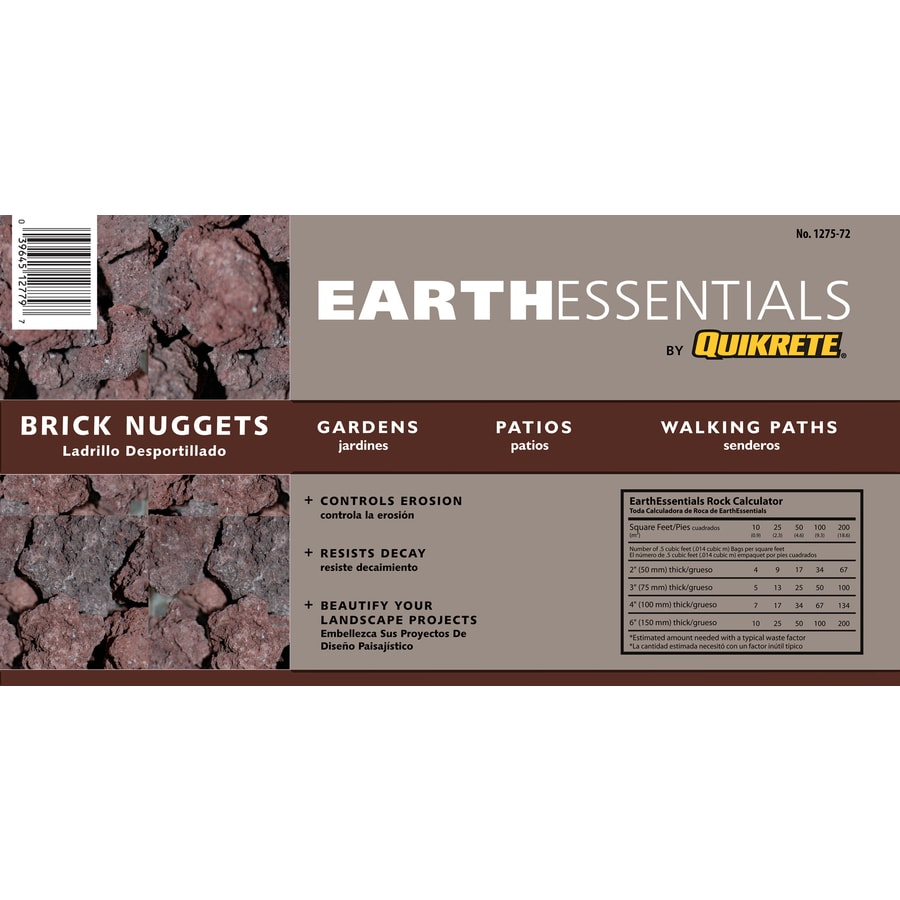 EARTHESSENTIALS BY QUIKRETE 0.5 cu ft Brick Nuggets