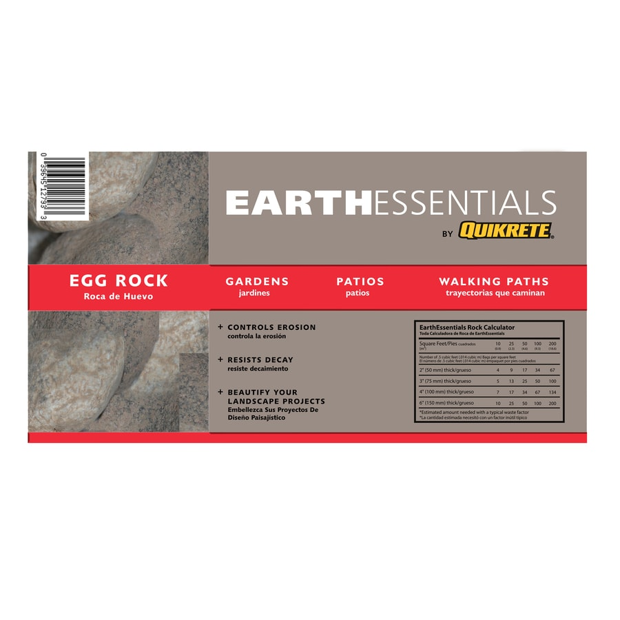 EARTHESSENTIALS BY QUIKRETE 0.5-cu ft Egg Rock