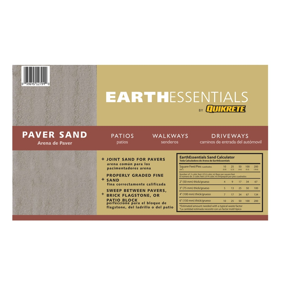 EARTHESSENTIALS BY QUIKRETE 0.5 Cu Ft Leveling Paver Sand
