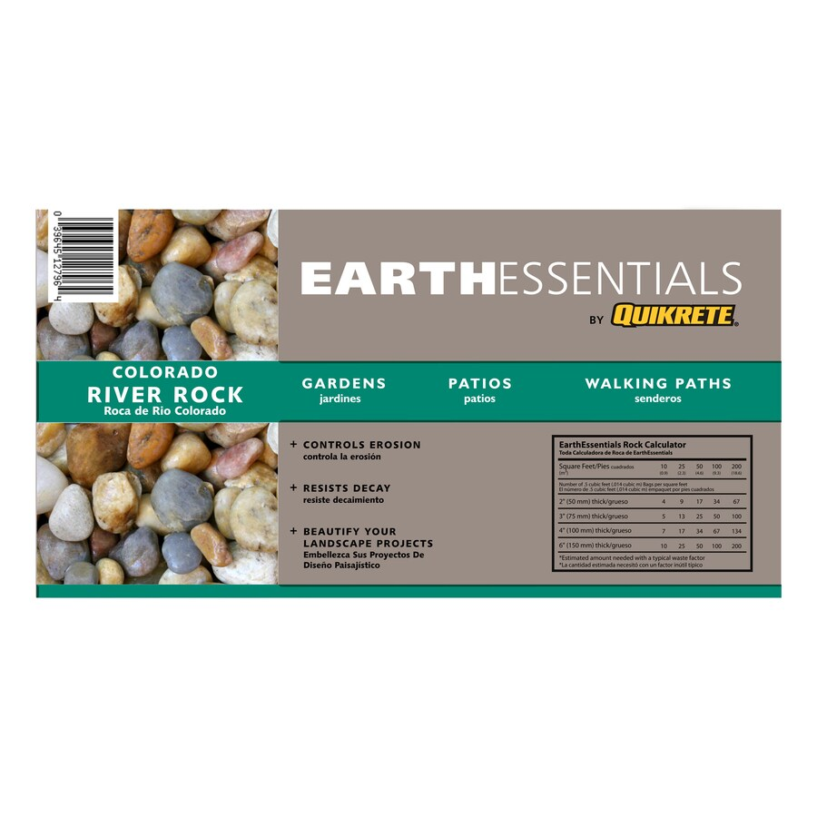 EARTHESSENTIALS BY QUIKRETE 0.5-cu ft Colorado River Stone