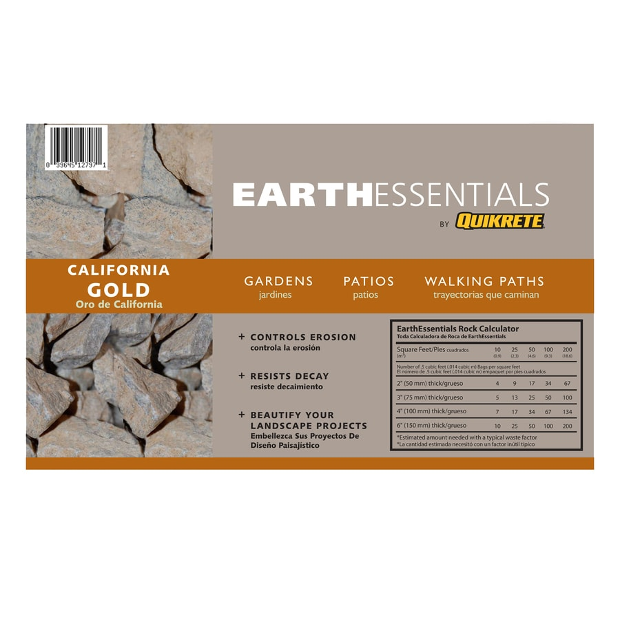 EARTHESSENTIALS BY QUIKRETE 0.5-cu ft Gold California Rock