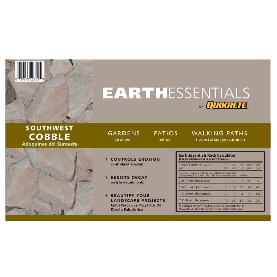 EARTHESSENTIALS BY QUIKRETE 0.5-cu ft Southwest Cobble Rock