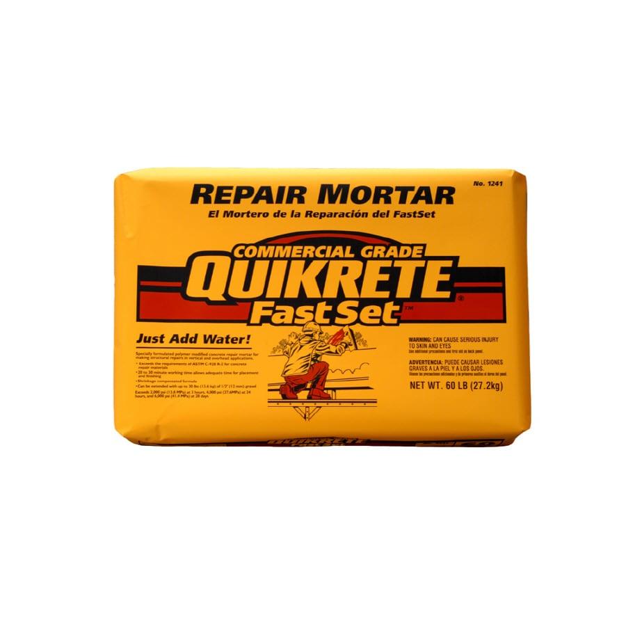 Shop Quikrete Fastset Repair 60 Lb Gray Type M Mortar Mix At