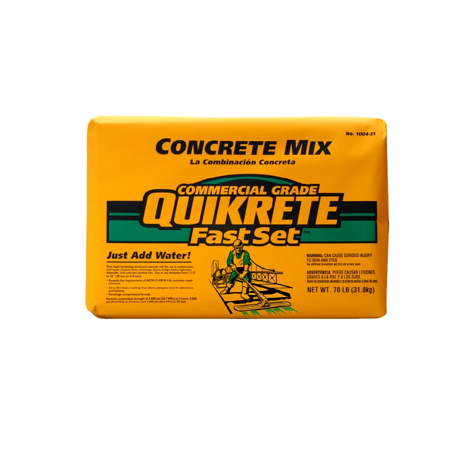 Quikrete Concrete Mix : Shop quikrete fastset lb gray fast setting concrete mix