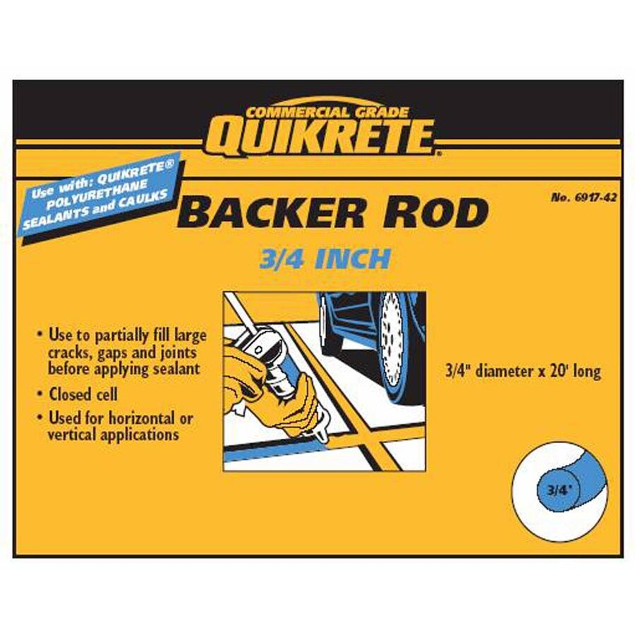 QUIKRETE 0.75-in x 20-ft Backer Rod