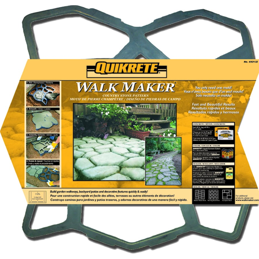 QUIKRETE WalkMaker Country Stone Pattern Concrete Mold