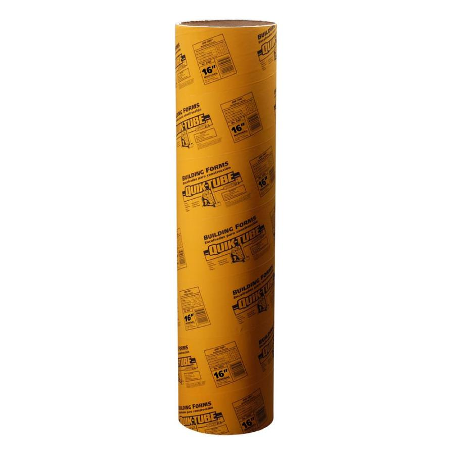 Shop QUIKRETE 48-in Concrete Tube Form (Common: 16-in; Actual ...