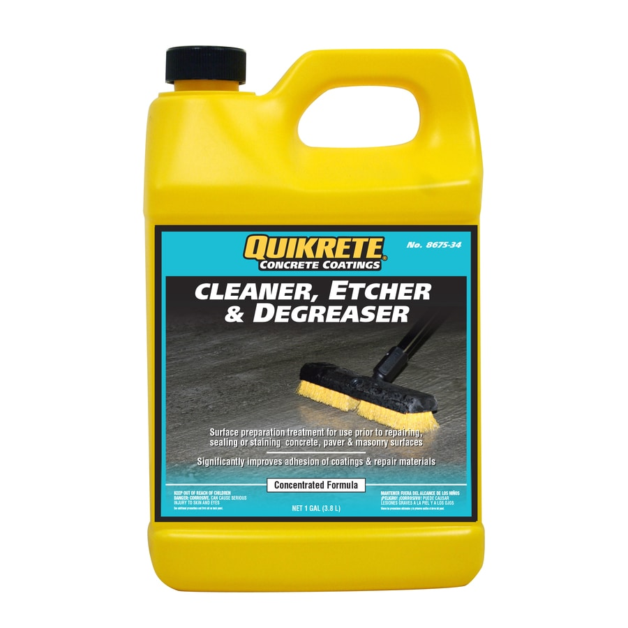 Concrete floor cleaner lowes gurus floor for Deck and concrete cleaner