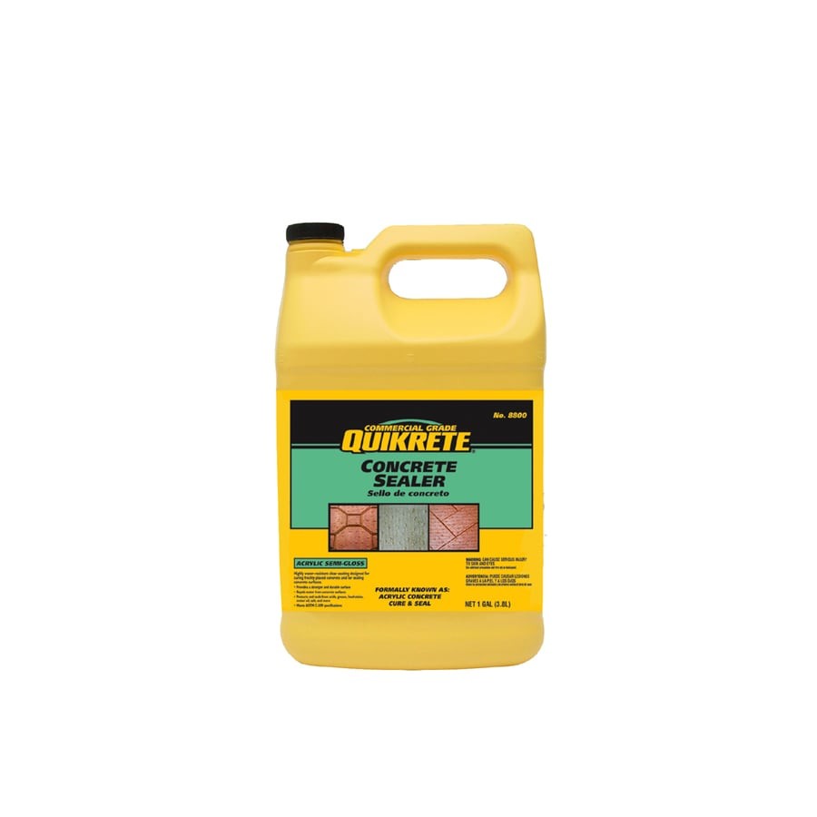 Quikrete Cure And Seal 128 Fl Oz Acrylic Masonry Sealer For Concrete