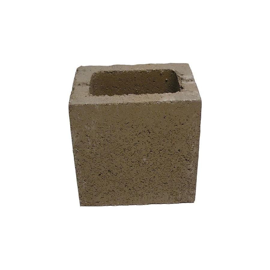 QUIKRETE Half Cored Concrete Block (Common: 6-in x 8-in x 8-in; Actual: 5.625-in x 7.625-in x 7.625-in)