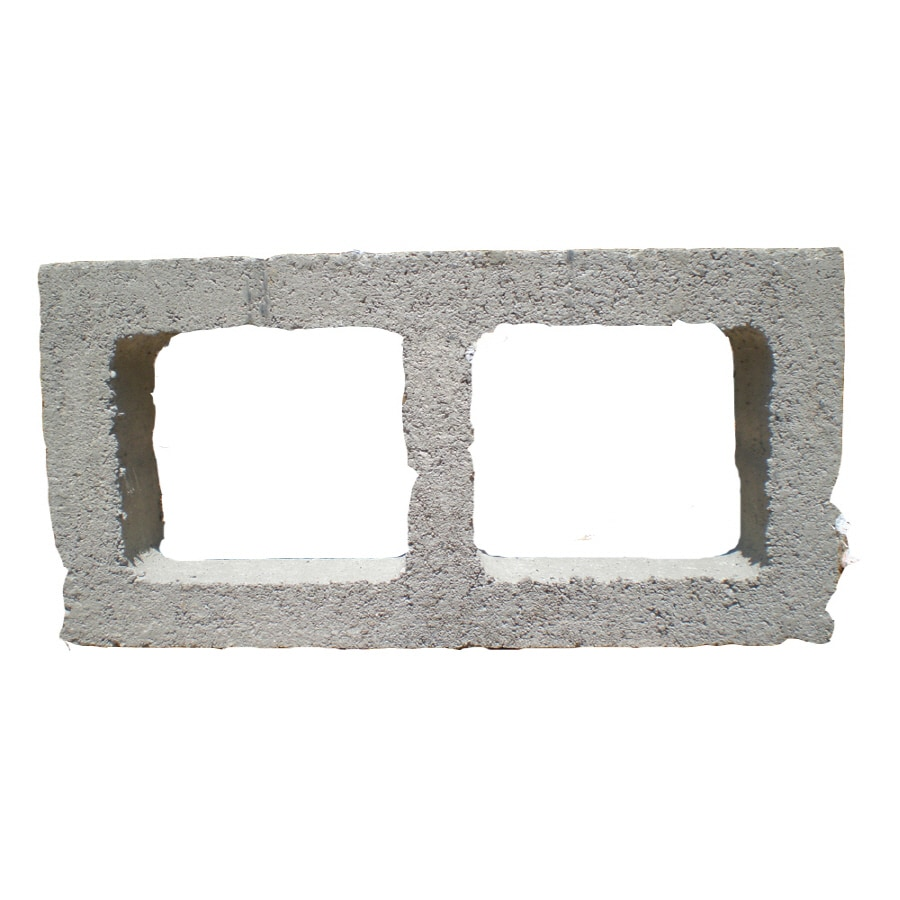 QUIKRETE Standard Cored Concrete Block (Common: 4-in x 8-in x 16-in; Actual: 3.625-in x 7.625-in x 15.625-in)