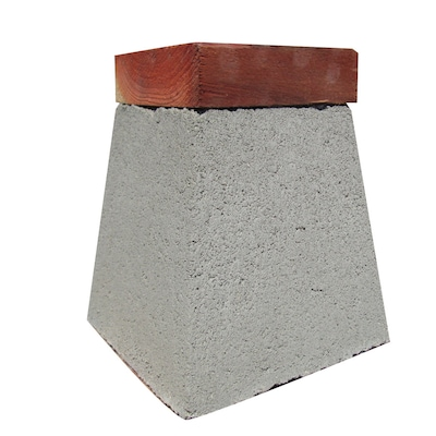 QUIKRETE Concrete Deck Block (Common: 10-in x 10-in x 10-in