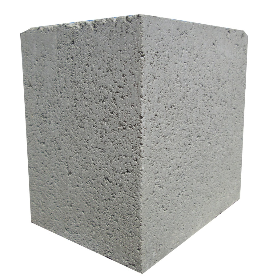 Standard Cored Concrete Block (Common: 6-in x 8-in x 8-in; Actual: 5.625-in x 7.625-in x 7.625-in)