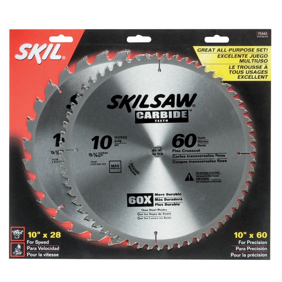 Skil 10-in 28-Tooth Standard Carbide Circular Saw Blade
