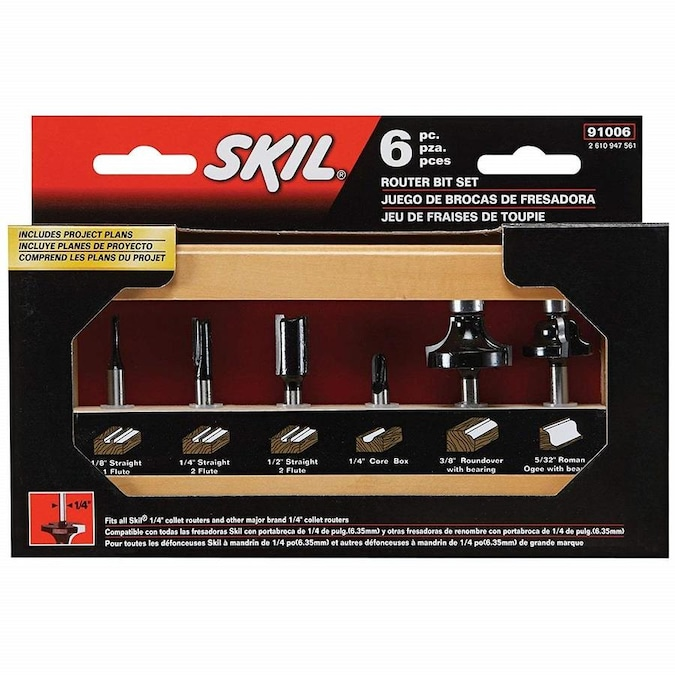 Skil Carbide Tipped Router Bit Set In The Router Bit Sets Department At Lowes Com