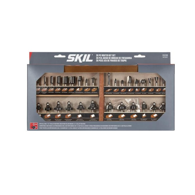 Skil 30 Piece Carbide Tipped Router Bit Set In The Router Bit Sets Department At Lowes Com