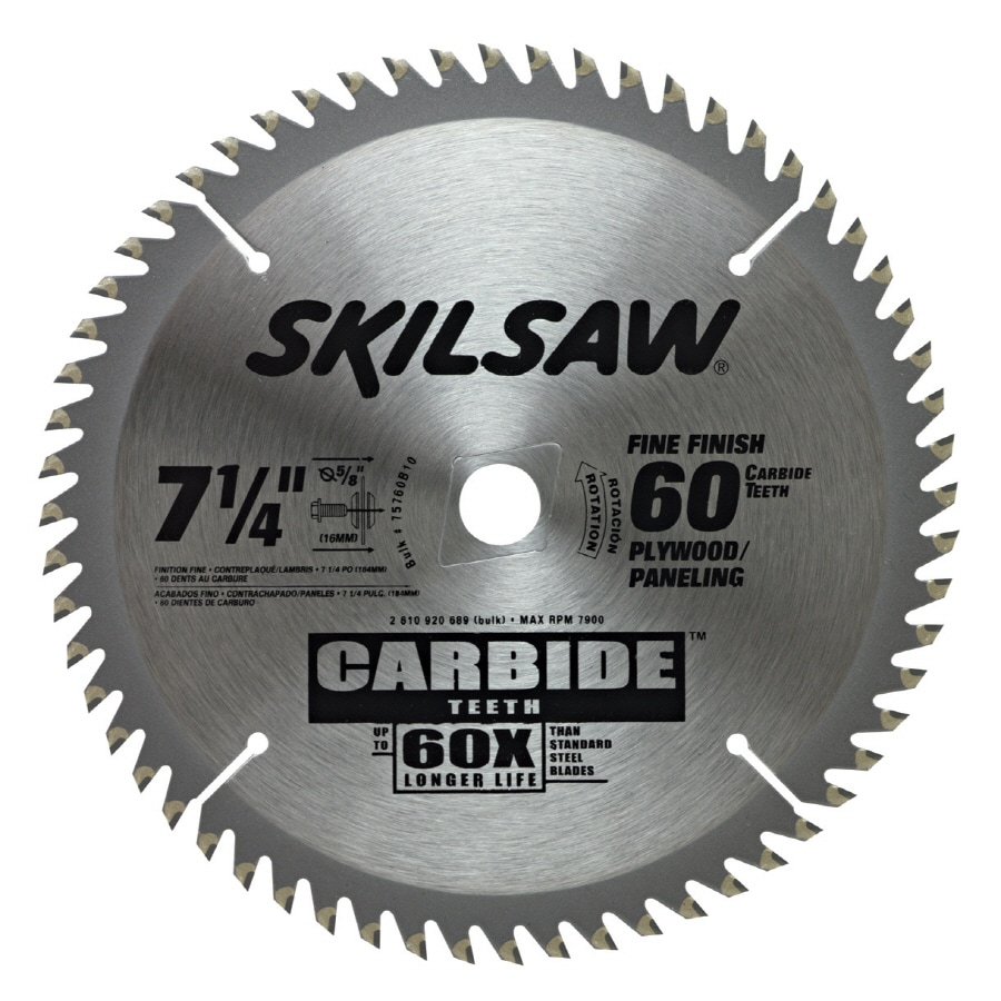 Skil 7-1/4-in 60-Tooth Standard Tooth Carbide Circular Saw Blade