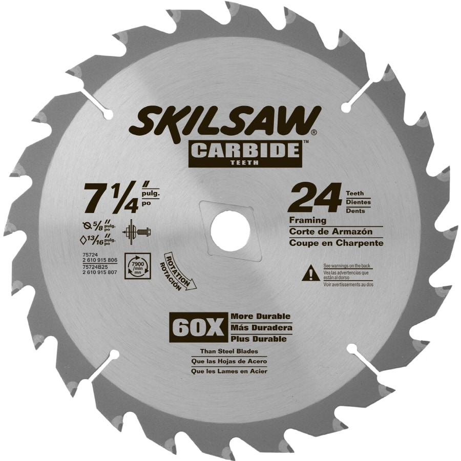 Skil 7-1/4-in 24-Tooth Standard Tungsten Carbide-Tipped Steel Circular Saw Blade