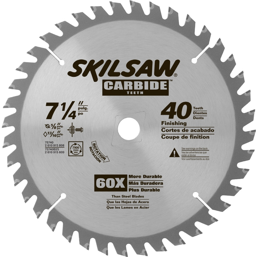 Skil 7-1/4-in 40-Tooth Standard Tooth Carbide Circular Saw Blade