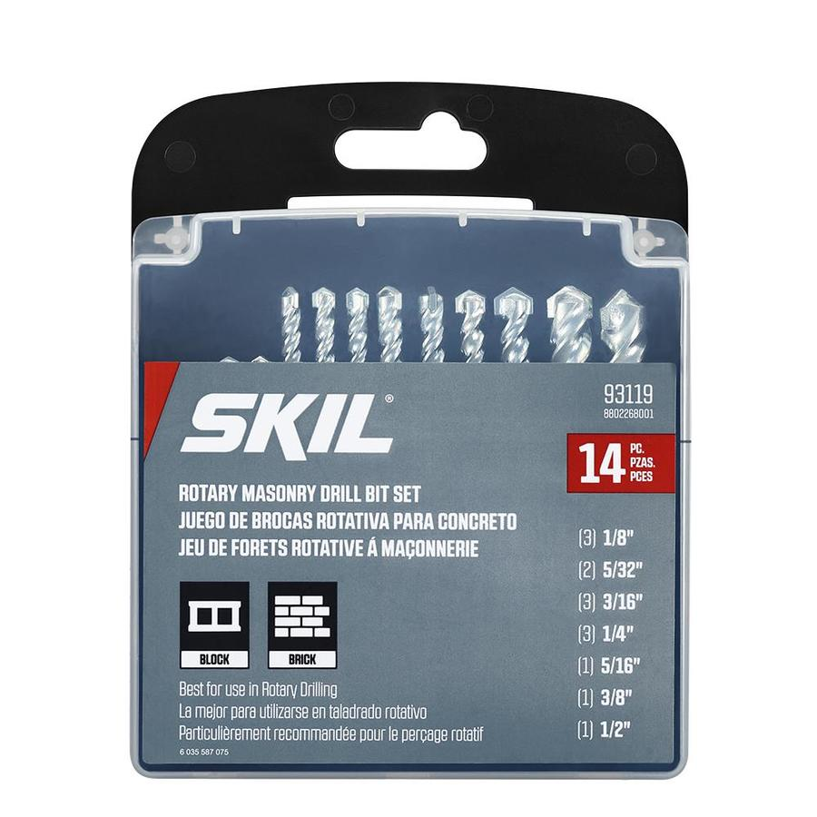 Skil 14 Piece X Round Rotary Drill Masonry Bit For Tile Concrete
